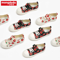 mongdodo梦多多童鞋女童板鞋秋季2019新款宝宝休闲鞋时尚草莓鞋潮