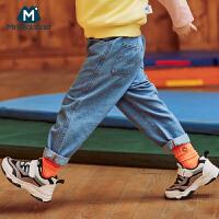 【618年中庆 2件3折价:81】迷你巴拉巴拉儿童运动鞋2020春季慢跑鞋耐磨鞋复古时尚百搭鞋子