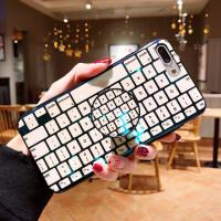 创意iphone xs max 手机壳玻璃XR键盘苹果XSMAX保护套情侣8p9新款 7/8 键盘