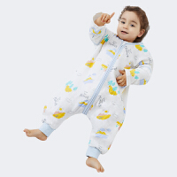 欧孕婴儿四层纱布睡袋纯棉空调房分腿睡袋秋冬薄款防踢被