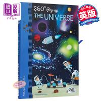 【中商原版】360°立体宇宙 英文原版 The Universe (360°Pop-Up) 全方位立体书 儿童百科绘本