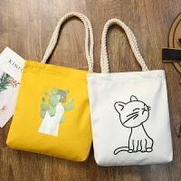 2019新款韩版布袋女包文艺帆布大包女学生书包单肩包麻绳手提包