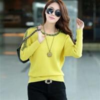 秋冬装女装30岁韩版宽松大码针织衫套头毛衣短款女士针织衫