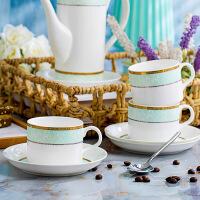 咖啡杯碟套装欧式结婚礼品美式咖啡套具英式骨瓷下午茶杯茶具 1壶