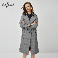 伊芙丽女风衣大衣2020新款春季韩版女士小个子英伦风长款过膝外套