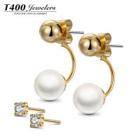 T400珍珠耳环简约大气 T120058002
