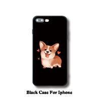 可爱卡通柯基iphone7plus手机壳8创意狗狗苹果6s全包防摔软壳情侣