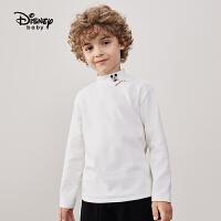 11.11开门红【3件3折预估价:42.5元】迪士尼童装男童女童罗纹布打底衫2021秋季新款时尚儿童上衣长袖潮