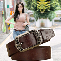 纯牛皮复古针扣女士皮带简约百搭韩国休闲时尚装饰宽原创腰带