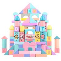 儿童积木玩具3-6周岁宝宝玩具男孩1-2岁幼儿女孩木头拼装玩具益智