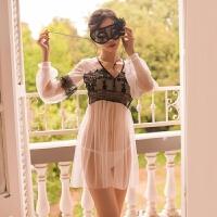 透明情趣内衣女性感内衣诱惑套装长袖仙女裙sm情趣套装蕾丝网衣公主服血滴子
