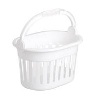 手提洗澡收纳篮浴室塑料沐浴洗浴筐卫生间洗漱用品收纳挂篮