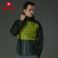 【开学季】Marmot/土拨鼠2021春季新款户外运动男士防风防泼水透气压胶保暖冲锋衣
