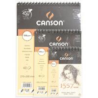 法国康颂1557素描本 速写本 手绘本 线圈本 40张32K 135*195mm 康颂CANSON 1557素描本线圈