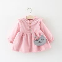 0-1岁4女宝宝裙子3女童2连衣裙秋装婴儿公主春装洋气6个月12冬装9 粉