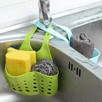 JH0980 创意可调节按扣式水槽收纳挂篮 厨房置物架水龙头海绵沥水挂袋 2个装颜色