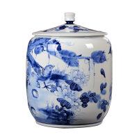 茶叶罐陶瓷大号6斤装密封罐存茶叶包装盒普洱茶罐七子饼茶盒复古 图片色