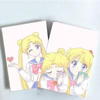 美少女战士动漫笔记本子 可爱少女系日记记事簿 女生礼物学生文具 加厚32k笔记本