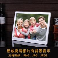 锂电15寸相框10寸高清电子相册LED屏音乐相架电影视频播放器 32G卡