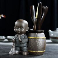 汝窑花瓶功夫茶具配件整套陶瓷茶道组合六君子套装木实木鸡翅木竹红檀