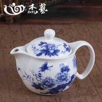 陶瓷茶�� 大���毓Ψ虿杈呔暗骆��_茶器小山水青花瓷�^�V泡茶��