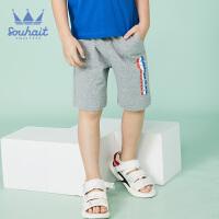 【3件3折:41.7元】souhait水孩儿童装夏季新款五分裤儿童针织短裤男童短裤运动短裤SHNXBD08CE597