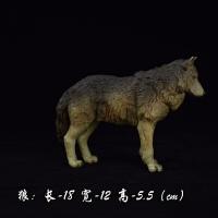大型动物模型儿童仿真实心玩具犬狗兔子狐狸狼摆件男孩礼物动物园玩具