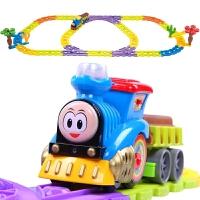 轨道车玩具 轨道火车电动音乐套装儿童玩具