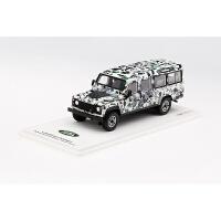 汽车模型TSM 1:43 路虎卫士110 装甲车Pizza Truck 迷彩涂装定制 全款预定(预计1月份上市)