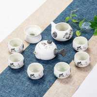 功夫茶具套装家用陶瓷喝茶茶杯简约茶道泡茶器泡茶壶活动礼品定制