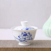 青瓷功夫茶具三才盖碗小号陶瓷泡茶碗杯单人敬茶盖碗影青瓷茶碗