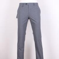 衬衫男学生商务男装长裤 商务男士含羊毛藏蓝纯色西裤