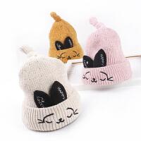 秋冬宝宝保暖毛线帽韩版套头帽儿童尖尖帽