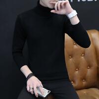 毛线衣男士高领毛衣男修身冬季韩版针织衫帅气加厚长领毛衣男线衫