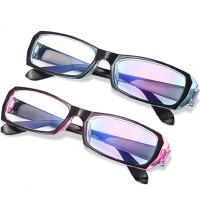 眼镜电脑护目镜男女款手机平光镜全框平面镜 外黑内蓝(送镜盒+镜布)