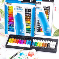 法���碧�W水彩�料套�b12色18色24色36色管�钏�彩���料盒美�g��I�L���W生用初�W者�和�����水彩工具套�b