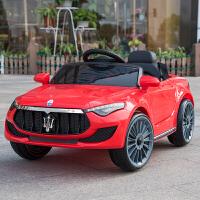 婴儿童电动车四轮1-3带遥控小孩4-5岁汽车男女孩宝宝可坐人玩具车 升级版红双驱大电+遥控 +摇摆+皮坐+推杆