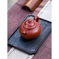 宜兴紫砂壶名家全手工大红袍茶壶茶具 图片色