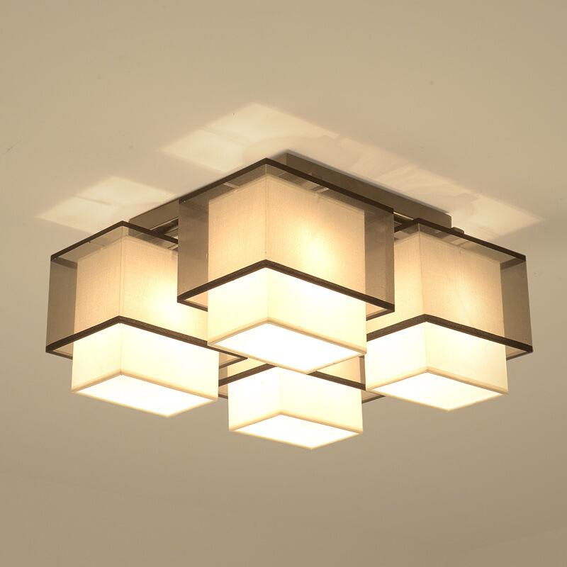 新中式灯具客厅家居现代中国风简约网红创意灯饰卧室LED吸顶灯