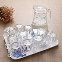玻璃杯子家用套�b泡茶水杯啤酒杯白酒杯酒吧洋酒杯�t酒杯加厚耐��