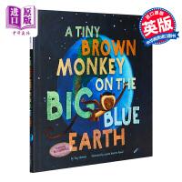 【中商原版】Luciana Navarro Powell 蓝色地球上的小棕猴 Tiny Brown Monkey 精品绘