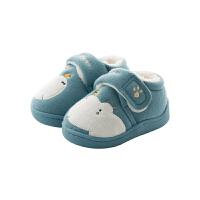 儿童棉拖鞋fang滑秋冬季男女宝宝家居鞋幼儿包跟棉鞋