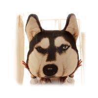 个性萨摩哈士奇抱枕汪星人神烦狗doge腰枕大号3D狗头靠垫