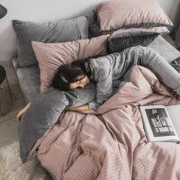 全棉珊瑚绒纯棉四件套冬季水晶法兰绒欧式网红床上三件套被套床单