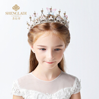 儿童皇冠头饰公主王冠水晶发饰女孩生日水钻套装发箍