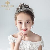 儿童皇冠头饰公主水晶发箍女孩韩式生日发饰演出礼服配饰