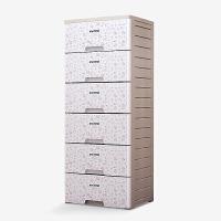 六层塑料抽屉柜收纳柜收纳箱斗柜整理柜整理箱衣柜 小碎花 食品级PP+ABS材质LY2162 六层抽屉柜