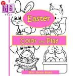 【中商海外直订】Easter Activity Book: Easter Color and Play: Easter