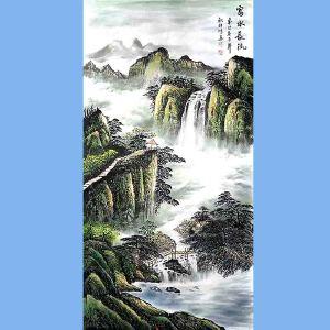 中国美术家协会会员,龙云书画院院长候桂峰(富水长流)3