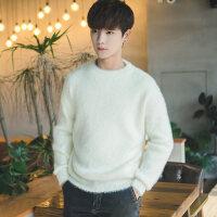 秋冬季款情侣装韩版男白色宽松毛衣针织衫线学生潮流个性日系复古